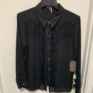 NWT Vince Camino Lace Button Top